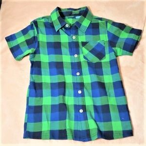 French Toast Plaid Short Sleeve Shirt